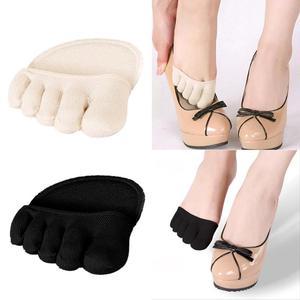 Image 1 - Plantillas medias de algodón, almohadillas para el cuidado de los pies, alivio del dolor en antepié, Gel de masaje para metatarso, almohadillas de soporte para los dedos del pie, plantillas para antepié, 1 par