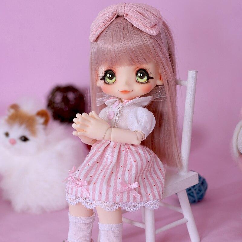 OUENEIFS bjd sd puppe kinoko Saft Kiki 1/6 körper modell baby mädchen puppen augen Hohe Qualität spielzeug shop harz luodoll-in Puppen aus Spielzeug und Hobbys bei  Gruppe 3