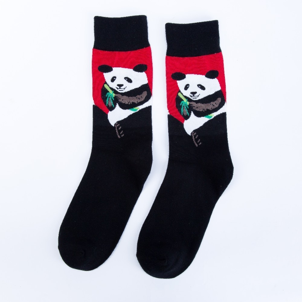 Men's Socks V-hanver Fashion Original Mens Socks Cotton Colorful Dress Happy Socks Novelty Animal Panda Patterned Harajuku Men Sock Gift