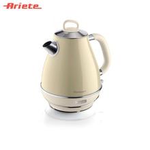 Чайник Ariete Vintage 2869/03 бежевый, стильный ретродизайн, объем 1,7 литра, поворот на 360 градусов, фильтр против накипи, индикатор уровня воды