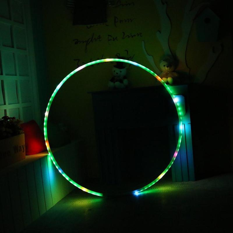 LED éclairage Sport Fitness cercle lumière changeante rechargeable poids en vrac vacances bricolage décorations Fitness formation diète outil - 3