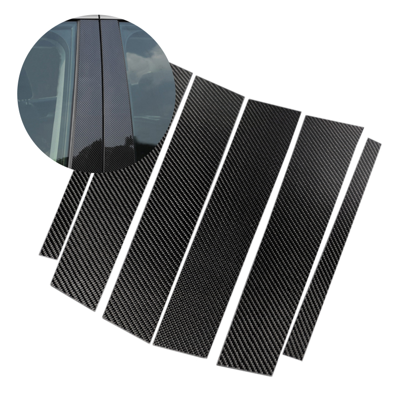 For Mercedes Benz GLC Class 2015 2016 2017 2018 Carbon Fiber Car Window B pillar Exterior Molding Cover-in Styling Mouldings from Automobiles & Motorcycles