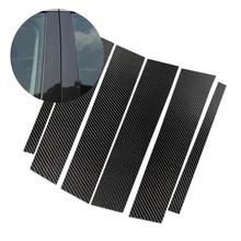 For Mercedes Benz GLC Class 2015 2016 2017 2018 Carbon Fiber Car Window B pillar Exterior Molding Cover