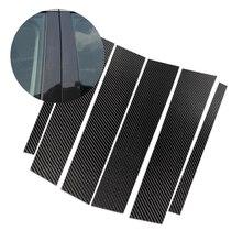 Para mercedes benz classe glc 2015 2016 2017 2018 fibra de carbono janela do carro b pilar exterior capa de moldagem