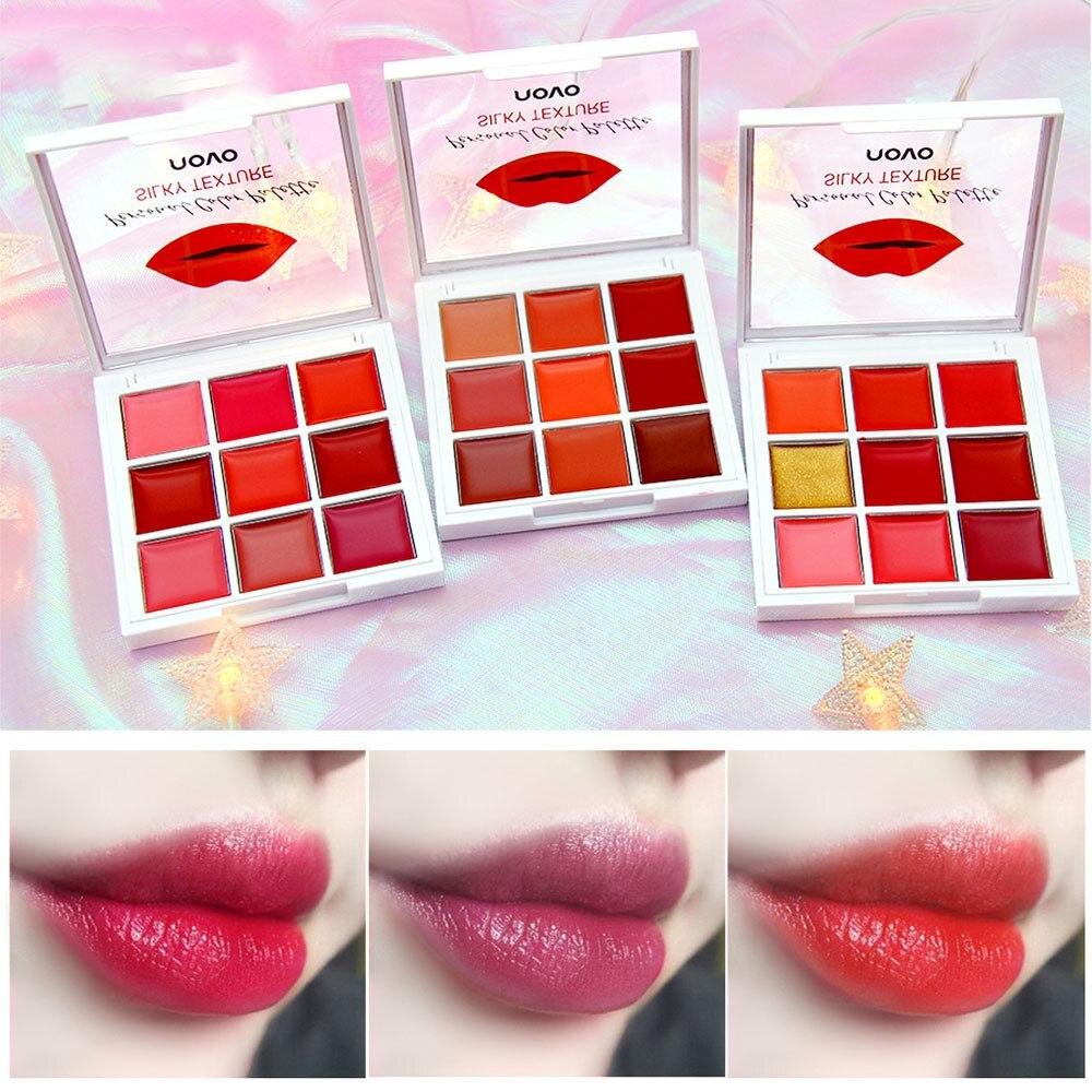 9 Colors Matte Lipstick Palette Make Up Set Moisturizing Long Lasting Lip Stick Glitter Velvet Beauty Cosmetic Lipstick Palette