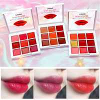 9 Colors Matte Lipstick Palette Make Up Set Moisturizing Long Lasting Lip Stick Glitter Velvet Beauty Cosmetic Lipstick Palette