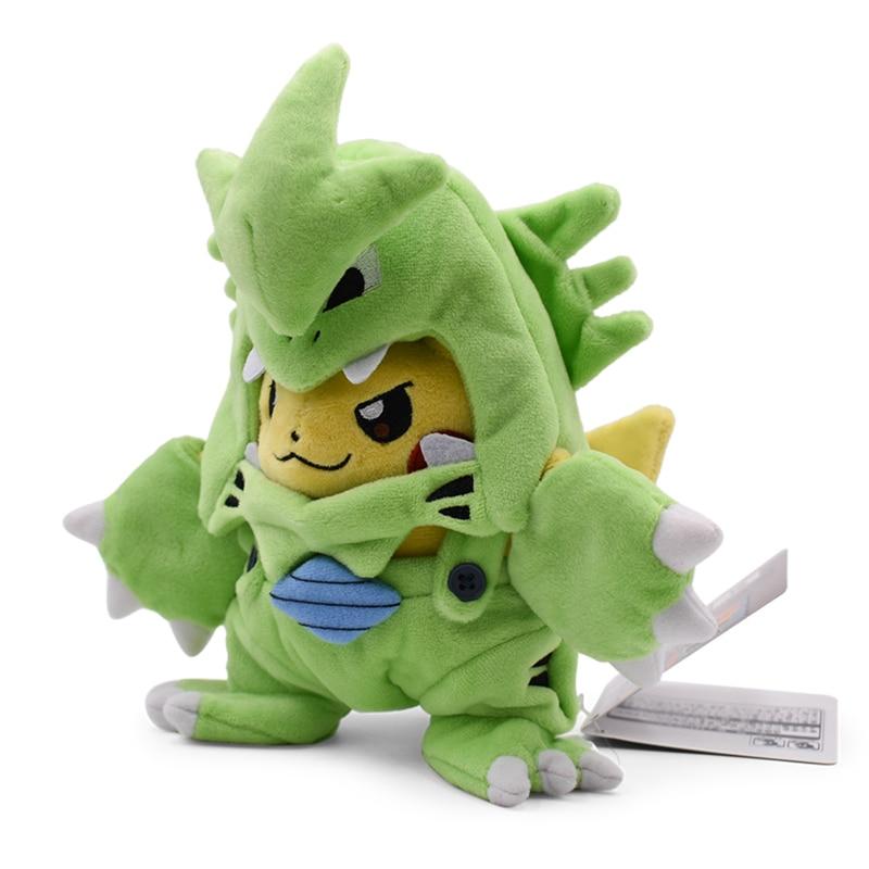 Anime Pikachu Cosplay Tyranitar Pikachu Peluche Plush Stuffed Toy Christmas Gift For Children 2018 New Style