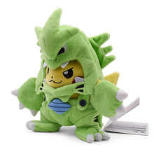 Anime Pikachu Cosplay Tyranitar Pikachu Peluche Plush Stuffed Toy Christmas Gift For Children 2018 New Style(China)