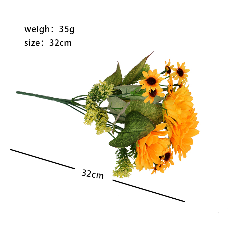 2 head bouquet party holiday wedding simulation plant rose bouquet holding flowers home living room desk decoration HOYVJOY in Artificial Dried Flowers from Home Garden