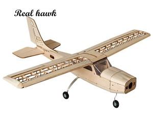 Image 1 - RC เครื่องบินเลเซอร์ตัดไม้ Balsa เครื่องบินชุด Cessna 150 กรอบไม่มีฝาครอบ Wingspan 960mm รุ่นชุด Woodiness รุ่น