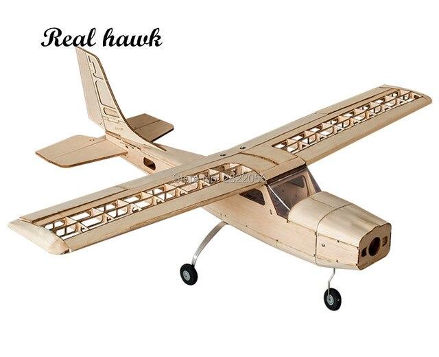 RC เครื่องบินเลเซอร์ตัดไม้ Balsa เครื่องบินชุด Cessna 150 กรอบไม่มีฝาครอบ Wingspan 960mm รุ่นชุด Woodiness รุ่น