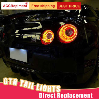 New LED Taillights Assembly For Nissan GT-R 2009-2018 LED Rear Lamp Brake Reverse Light Rear Back Up Lamp DRL Car Tail lights