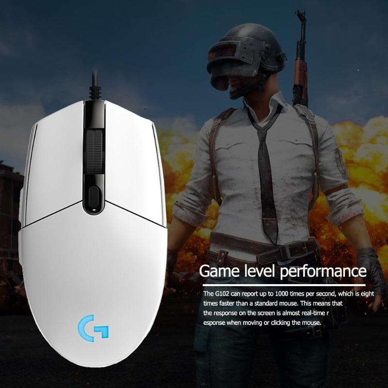Image 5 - Logitech G102 Gaming Mouse 8000DPI RGB Macro Programmable Mechanical Buttons Wired Mouse for PUBG/Overwatch/LOL Games miceMice   - AliExpress