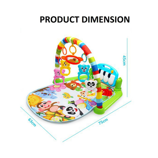 Baby Play Mat Kids Rug Educational Puzzle Carpet With Piano Keyboard And Cute Animal Playmat Baby Gym Crawling Activity Mat Toys 2