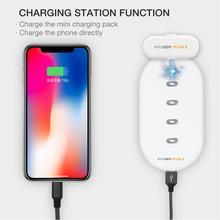 Магнитный внешний аккумулятор 1100 мА/ч для iPhone Micro usb type C, мини-магнитный внешний аккумулятор для iPhone/iPad/Xiaomi/huawei