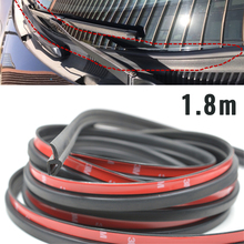 Tiras selladas universales de 1,8 M para parabrisas delantero de coche, Panel de goma de plástico con doble cara para automóvil, sello de goma de envejecimiento