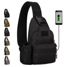 High Quality  Nylon Men Chest Back Pack Shoulder Messenger Bags Military Assualt Male Casual Water Bottle Bag Sling Rucksack все цены