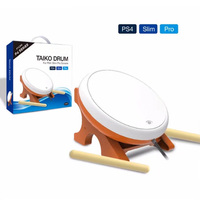 OSTENT Mini Taiko No Tatsujin Master Drum Controller Japanese Traditional Instrument for Sony PS4 Slim Pro