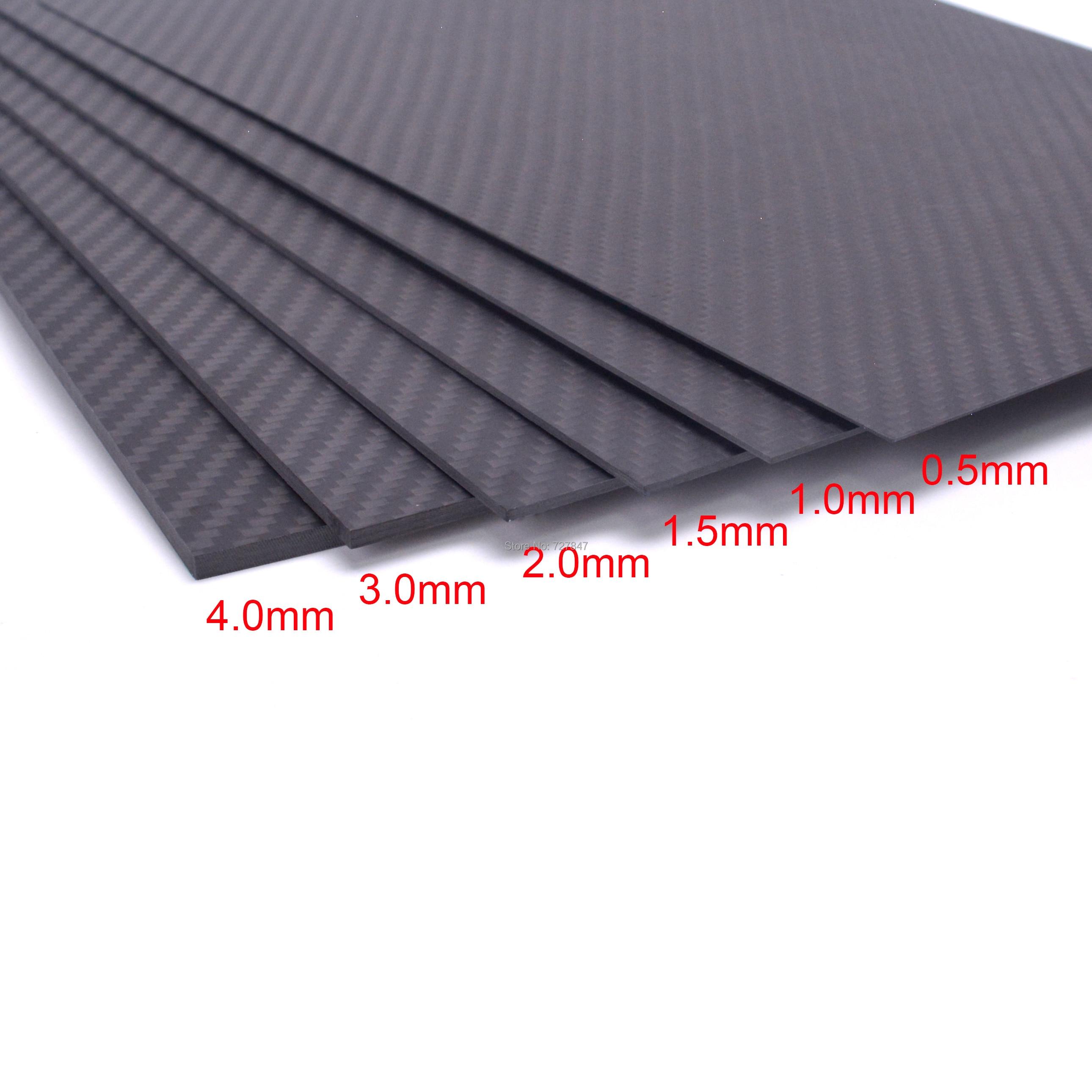 400 milímetros X 200 milímetros Real da Fibra do Carbono Placa Painel de Folhas 0.5 milímetros 1 milímetros 1.5 milímetros 2mm 3mm 4 milímetros 5mm de espessura Composto Material de Dureza