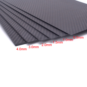 400mm X 200mm Real Carbon Fiber Plate Panel Sheets 0.5mm 1mm 1.5mm 2mm 3mm 4mm 5mm thickness Composite Hardness Material(China)
