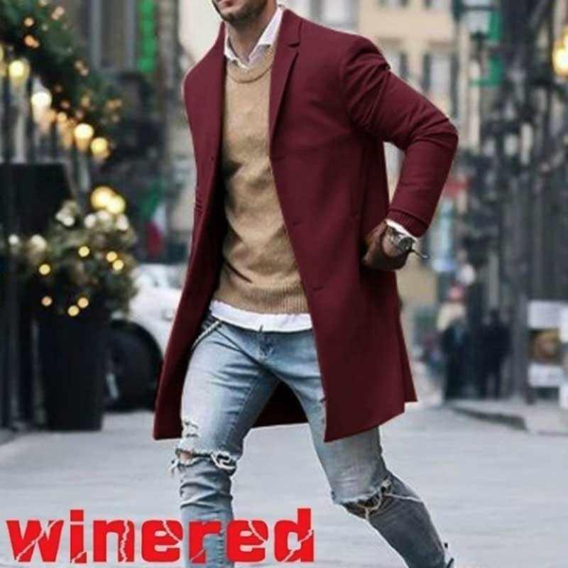 Moomphya 2019 стильный с длинным рукавом шерсть для мужчин пальто Длинные Стильная ветровка Тренч veste homme верхняя одежда мужская куртка