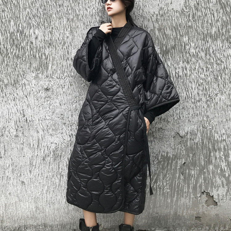 LANMREM 2019 New Spring And Winter Japan Styles Batwing Sleeves Loose Big Size Cotton padded Coat