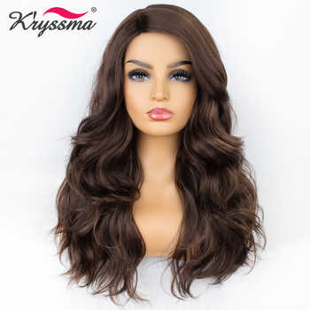 Kryssma Synthetic Wig Brown Wig For Women Long Wavy Mixed Highlight Deep Parting Wigs For Women Natural Hairline Hair Cosplay - DISCOUNT ITEM  49% OFF All Category