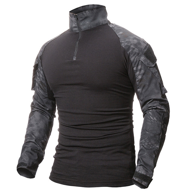 9 Colors Outdoor Fishing Sports T-shirt Men Long Sleeve Hunting Tactical Military Army Shirts Uniform Hiking Breathable Clothing 1
