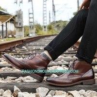 Мужские ботинки martin с высоким берцем; Мужские ботинки в британском стиле; зимние военные полусапожки