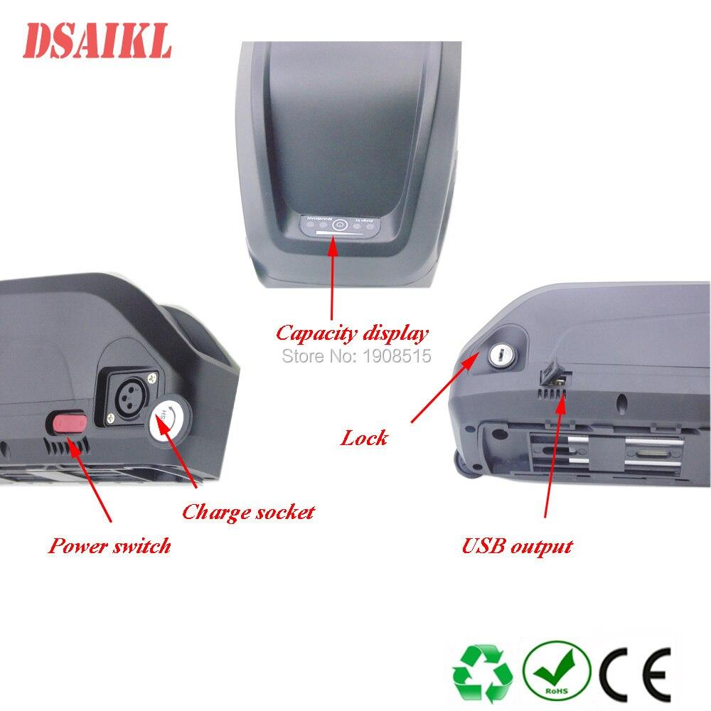 Купить с кэшбэком Free shipping ebike battery 500W 36V 13Ah 14Ah 15Ah 16Ah 17.5Ah 19Ah 20Ah 21Ah USB Hailong electric bicycle lithium battery pack