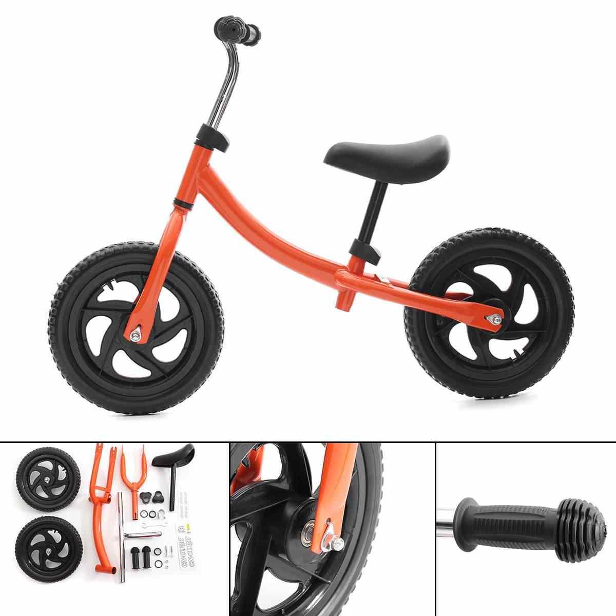 """12 """"調節可能な子供バランスバイクスクーター幼児子供バランス自転車子供ベビートレーニングウォーカーサイクリング乗馬自転車"""