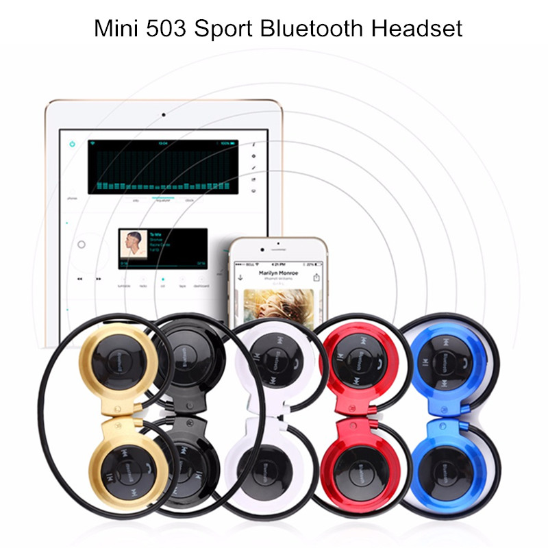 KINCO 4Colors 503 Sport Running Sweat-proof TF Card Ear Hook bluetooth Headphone Headset with Mic for Phone
