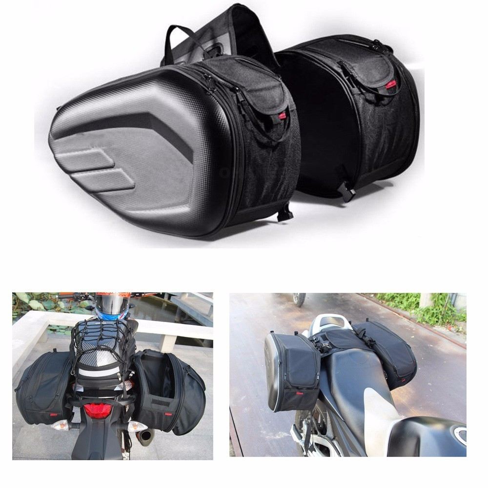 Waterproof Motorcycle Saddle Bag Trunk Side Saddlebag Oxford Fabric Luggage Bags Moto Helmet Riding Travel