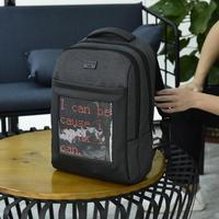Car Motorcycle LED Backpack Storage Bracket Color Screen Dynamic Computer Bag Car Accessory Fashion Personally Bag Storage