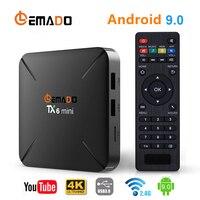 2019 New TV BOX Android 9.0 2GB 16GB Allwinner Quad core support 2.4G Wireless WIFI Lemado TX6 mini Set Top Box 4K Smart TV Box