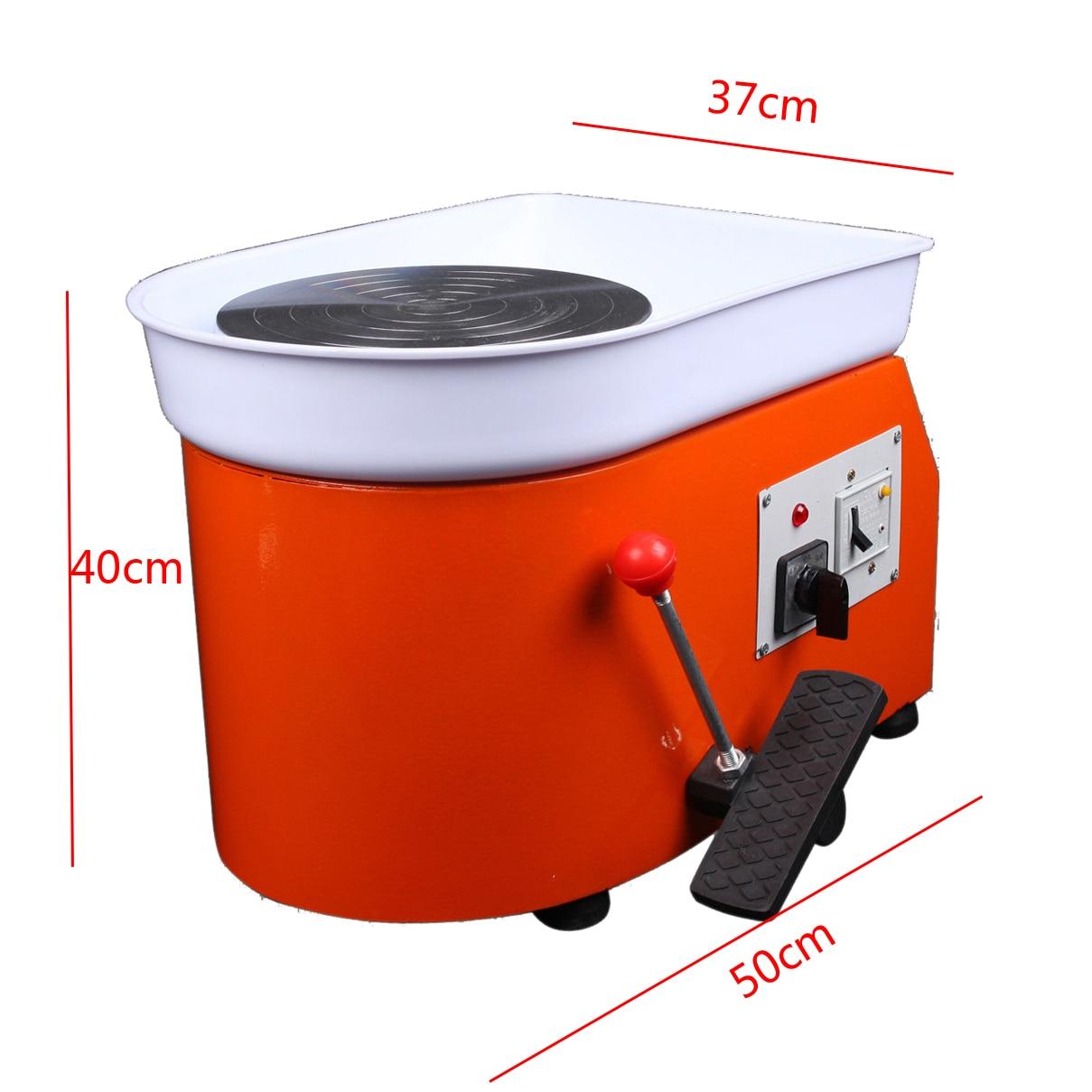 220 V 250 W poterie roue en céramique Machine pédale en céramique argile Art moule pour le travail de la céramique - 5