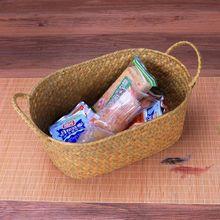 Плетение из прутьев корзина для хранения для кухни ручной работы фруктовое блюдо из ротанга для пикника еда Хлеб буханка разное аккуратное Контейнер Чехол