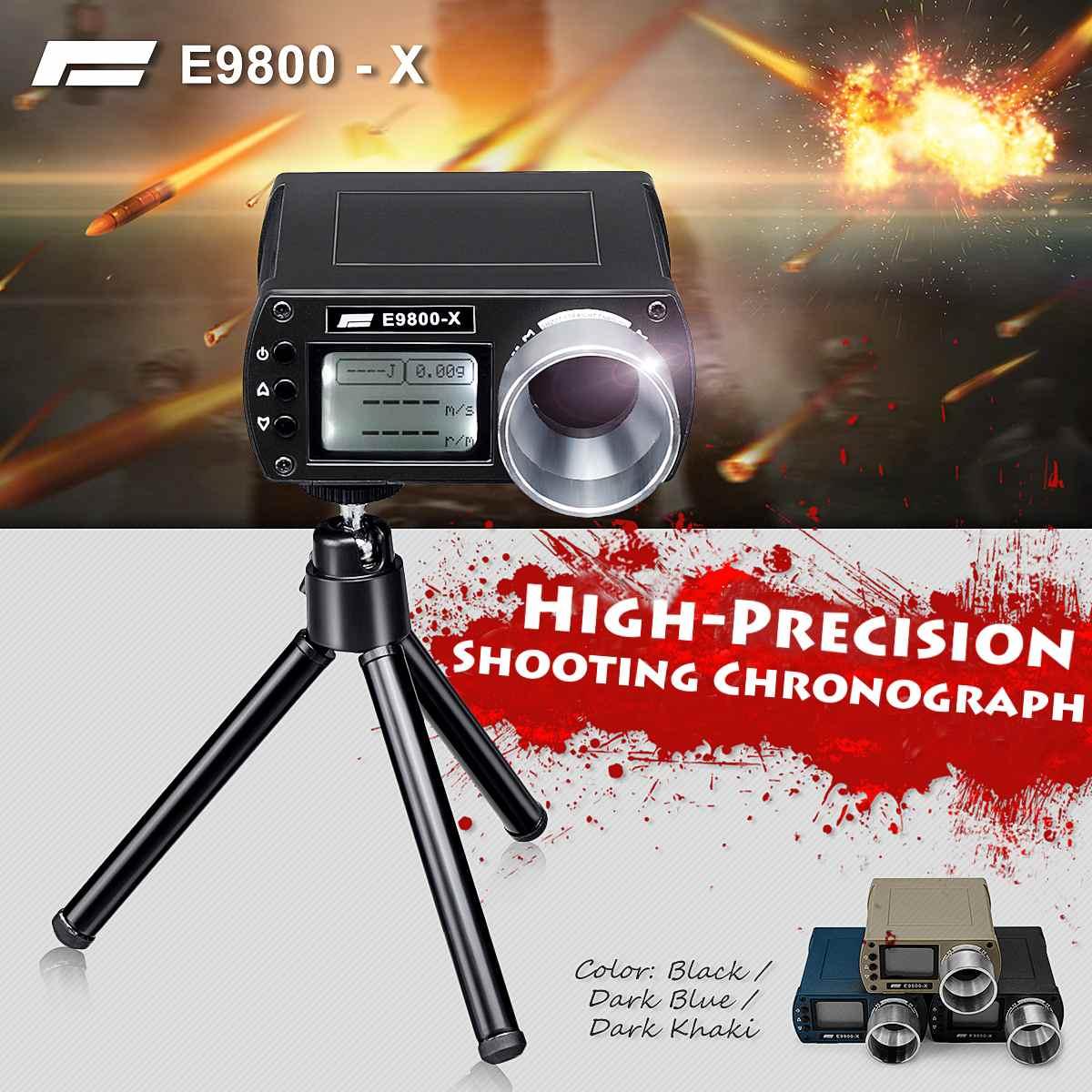E9800-X Airsoft BB testeur de vitesse de prise de vue haute précision chronographe de prise de vue 0-500J tir-énergie cinétique écran LCD-10C à 50C