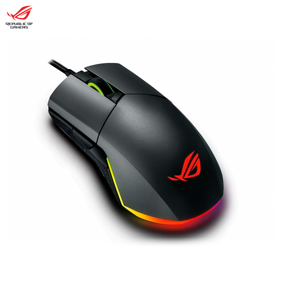 Mouse ASUS ROG PUGIO 90MP00L0-B0UA00 computer gaming wired Peripherals Mice & Keyboards e blue ems618 wired gaming mouse white