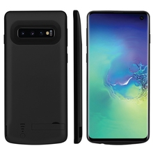 For Samsung Galaxy S10 Battery Charger Case 5000mAh Slim Power Bank Rechargeable Case For Samsung S10 Charger Case Stand Bracket 3500mah rechargeable li ion external battery power case w stand for samsung galaxy s5 black