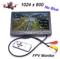 Newest 7 inch LCD TFT FPV 1024 x 600 Monitor with T plug Screen Remote control FPV Monitor Photography for Ground Station