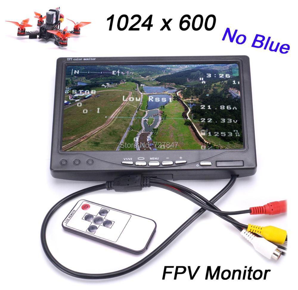 Novos IPS Tela 7 polegada TFT LCD FPV 1024x600 Monitor de controle Remoto Monitor de Fotografia FPV Sunhood para Chão estação