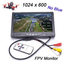 Yeni IPS 7 inç LCD TFT FPV 1024x600 monitör ekranı uzaktan kumanda FPV monitör fotoğrafçılığı güneşlik yer istasyonu için