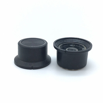 5 sztuk plastikowy przełącznik czapki transmitancja 6mm 15 64 #8221 średnica wału lampa pierścieniowa emitujące pokrętło potencjometru Plum wał D wał tanie i dobre opinie Plastic