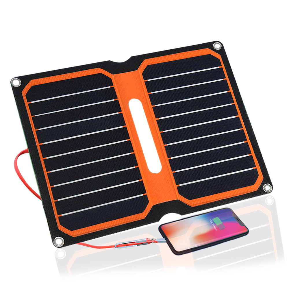 Xinpuguang solar charger 5V 10W ETFE high efficiency portable solar charger Aurinkopaneeli solar panel camping outdoor use image