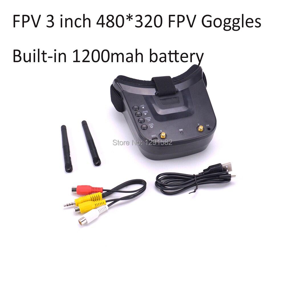 FPV 3 Inch 480 320 Display 16 9 5 8G 40CH Mini FPV Goggles Build in