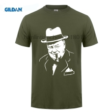 GILDAN Men T Shirts Cotton Plus Size New Arrival Mens Short Design Shirt Winston Churchill Woodstock Uk London hip Hop