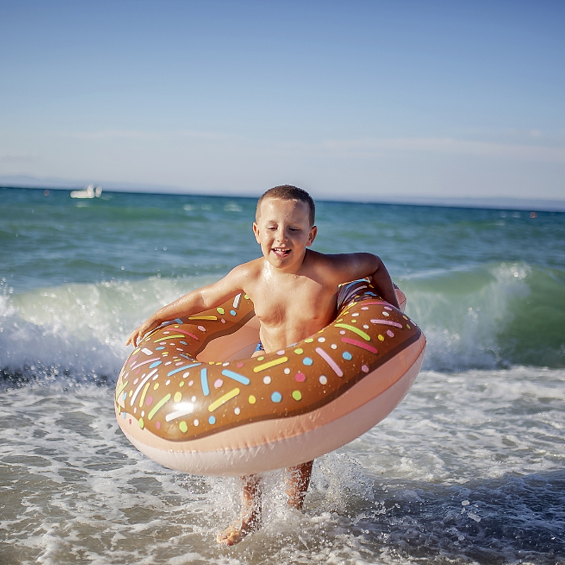 Inflatable 60/90/120cm Swimming Ring Donut Swim Ring Swimming Pool Float Bathing Pool Toy For Kids Adult Party Decoration