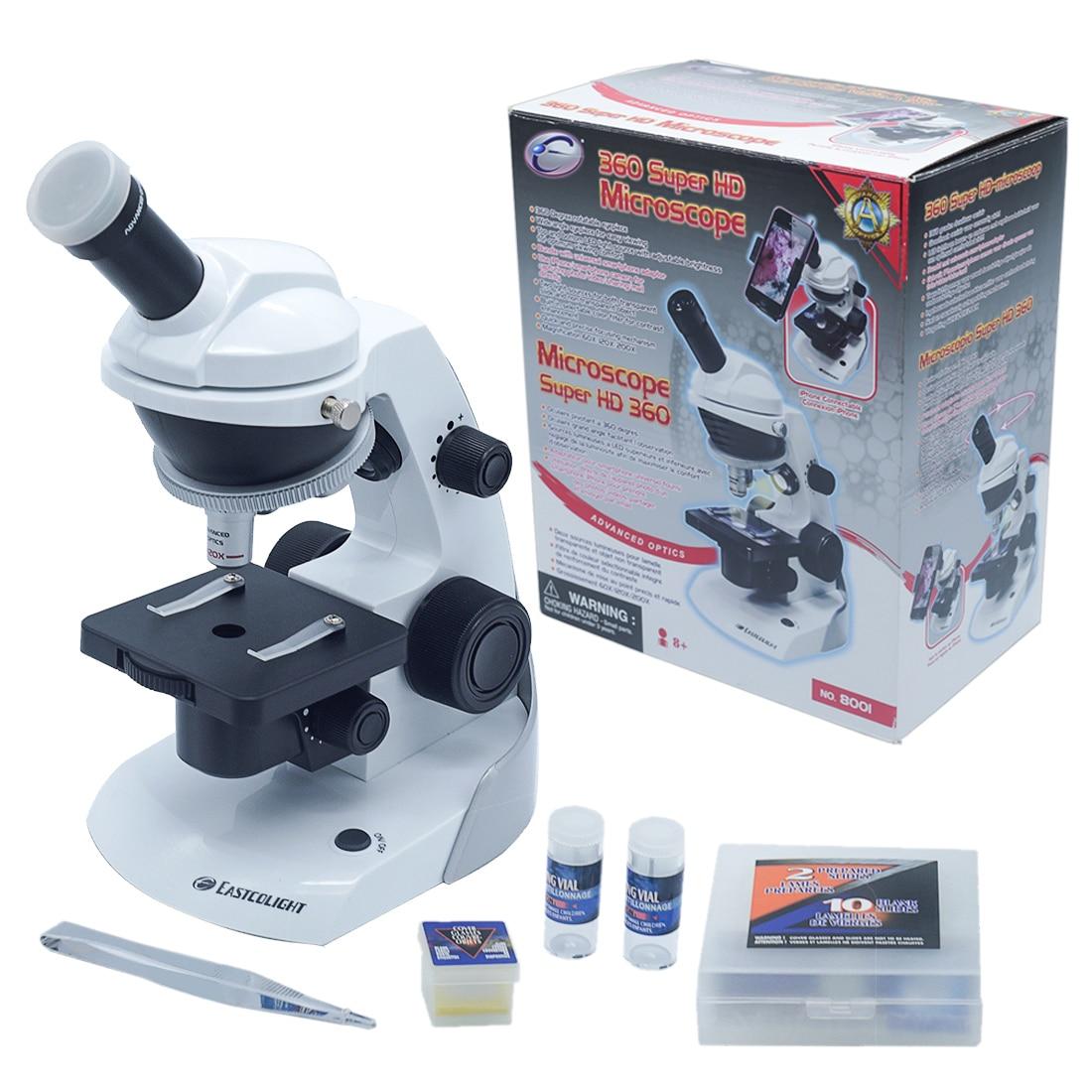 Bricolage 360 degrés Hd Microscope optique grand angle Puzzle analyze cellulaire Science équipement expérimental tige jouet ensemble pour enfants