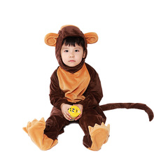 Monkey Costume Kids Girls Cosplay Children Animal Costume Halloween Costume For Kids цена 2017